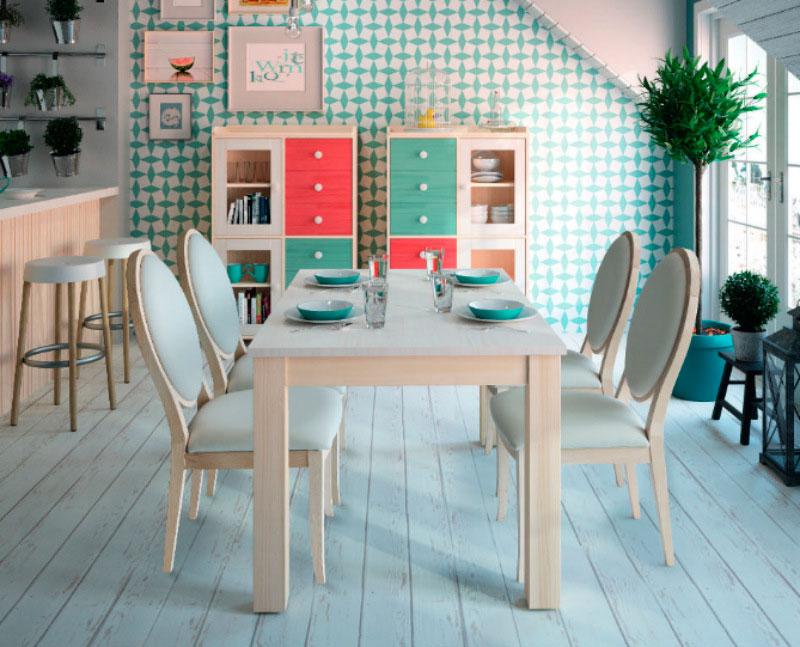 salon mesa comedor sillas vitrinas cajones muebles thermobel Segovia