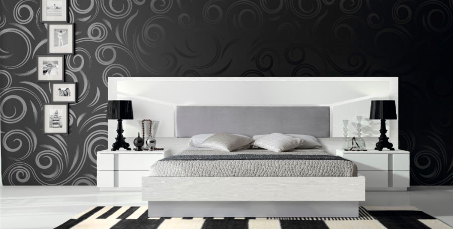 dormitorio principal cama doble mesillas noche muebles Thermobel Segovia