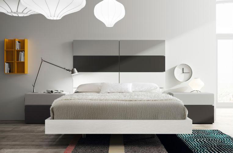 dormitorio principal cama doble cabecero mesilla noche muebles Thermobel Segovia