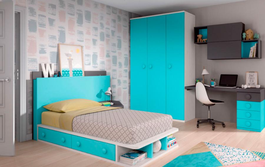 Thermobel | Dormitorio juvenil azul Capri n0143