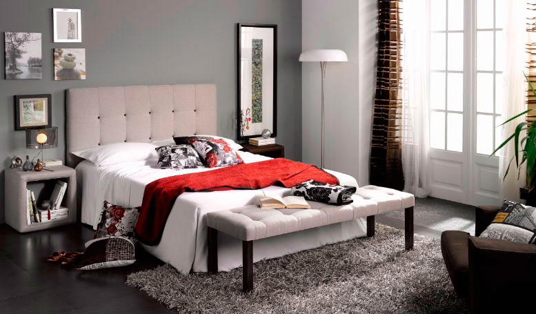 dormitorio principal cabecero cama doble piecero mesilla noche muebles Thermobel Segovia