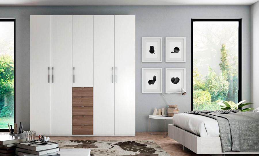 Armario ropero blanco cajones muebles Thermobel Segovia