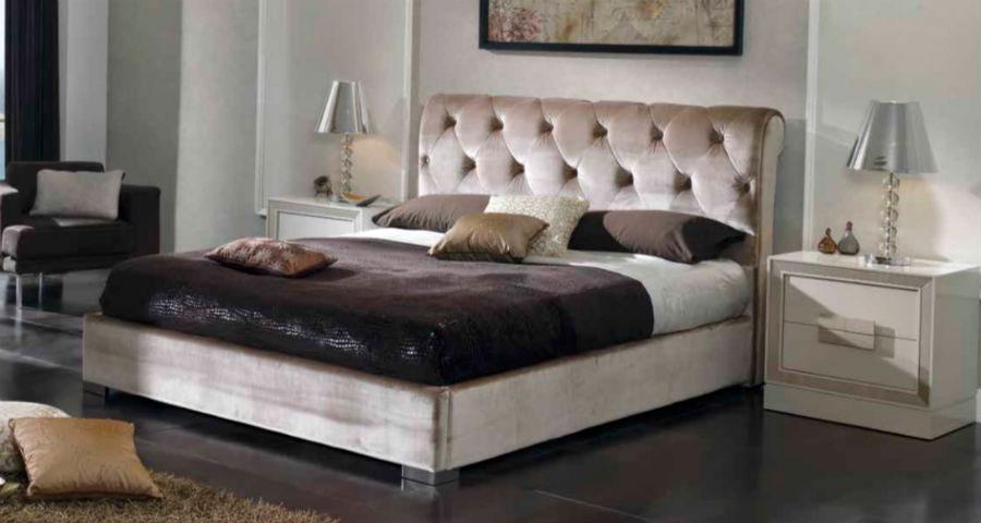 dormitorio principal cama doble cabecer mesillas noche muebles Thermobel Segovia