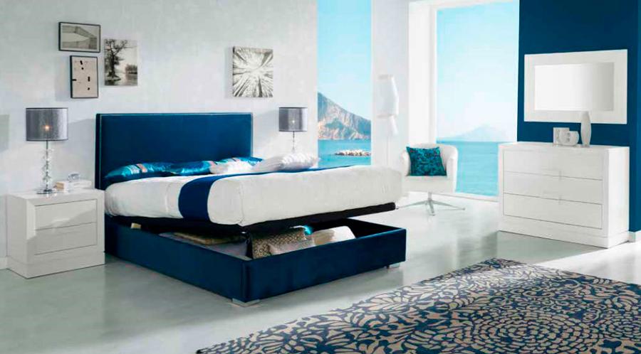 dormitorio principal cama matrimonio canapé mesilla noche cómoda espejo muebles Thermobel Segovia