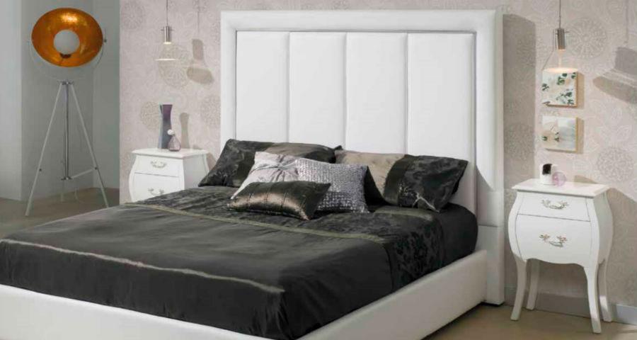 dormitorio principal cama matrimonio cabecero mesilla noche muebles Thermobel Segovia