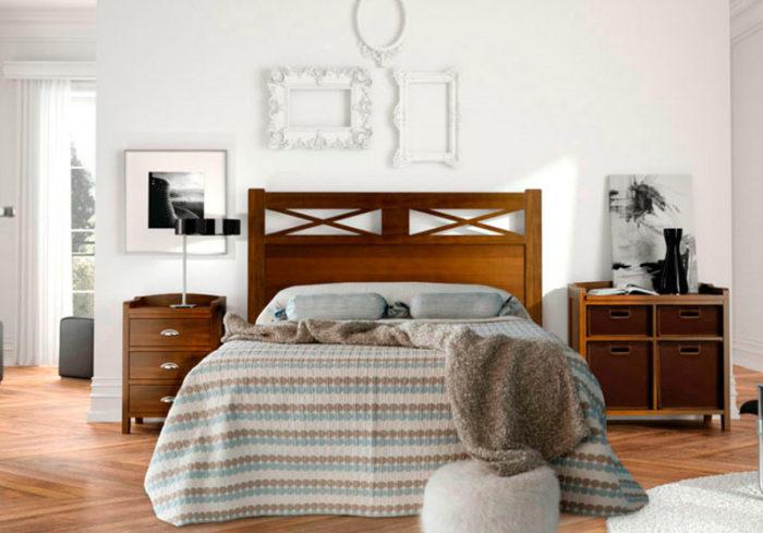 dormitorio principal cam amatrimonio cabecero mesilla estantería muebres thermobel Segovia