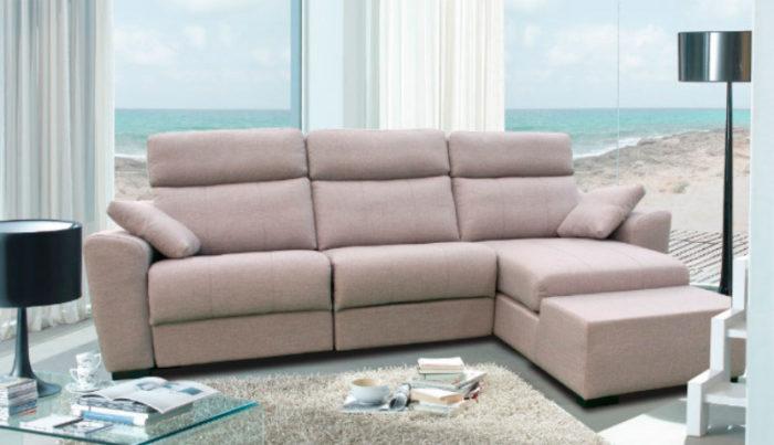 sofá tres plazas asiento reclinable Muebles Thermobel Segovia