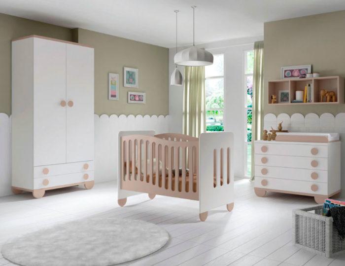 dormitorio infantil cuna cómoda cambiador armario ropero muebles thermobel segovia