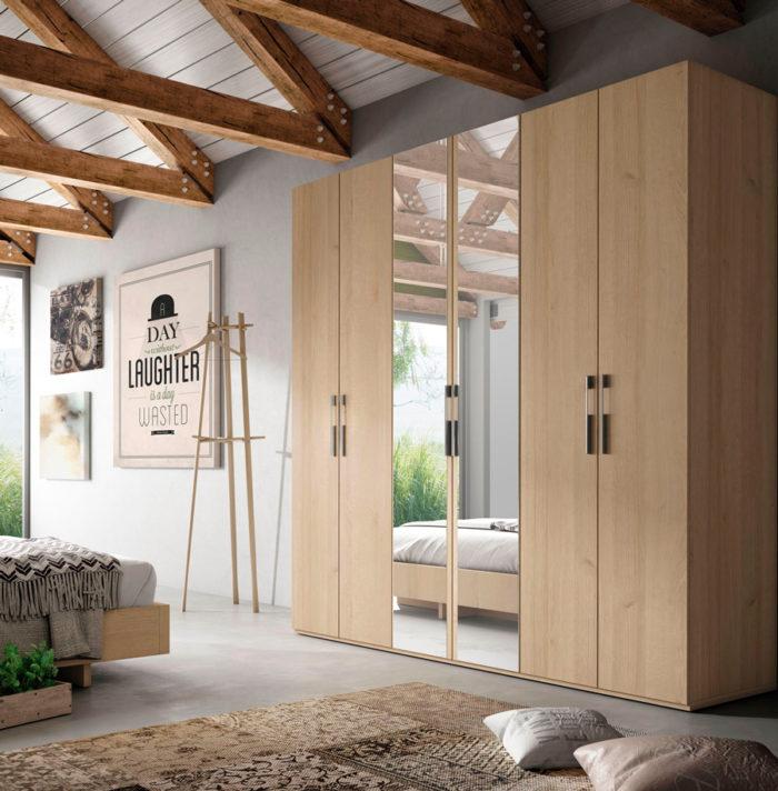 dormitorio principal armario ropero espejo muebles Thermobel Segovia