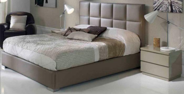 dormitorio principal cama doble cabecer mesilla noche muebles Thermobel Segovia