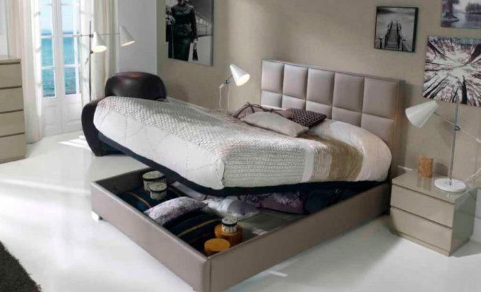 dormitorio principal cama matrimonio canapé mesilla noche muebles Thermobel Segovia