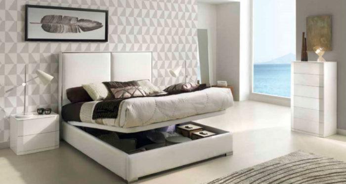 dormitorio principal cxama matrimonio canapé cabecero mesilla noche cómoda muebles Thermobel Segovia