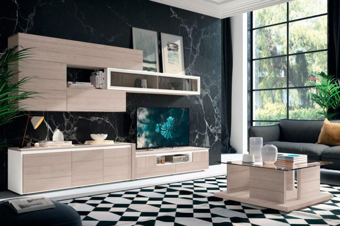 salones mesa centro cristal mueble TV estantería colgar Thermobel Segovia