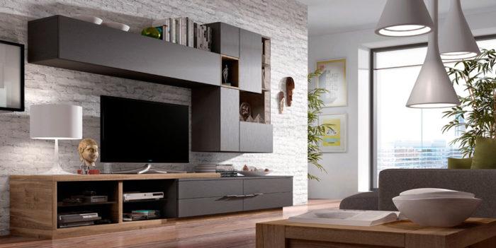 salones mueble TV estantería mesa centro Thermobel Segovia