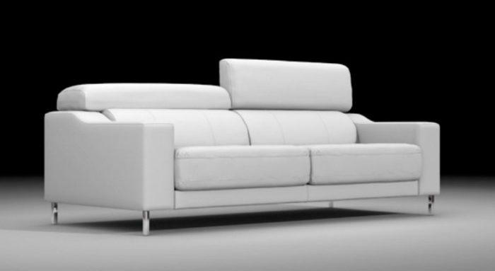 sofá blanco muebles thermobel Segovia